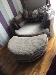 swivel cuddle chair scs swivel cuddle chair and foot stool in forfar angus gumtree