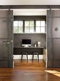 sleek home office sliding door also home library area kranbearys com