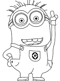 coloring amazing minions color pages kevin bob despicable