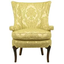 linen chair uncommon 1940s wingback chair in silk and linen damask upholstery