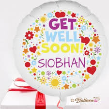 personalised birthday balloons personalised get well balloons