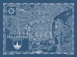 Philadelphia Pa Map Map Of Philadelphia Pa Custom Maps Bank U0026 Surf Bank And Surf
