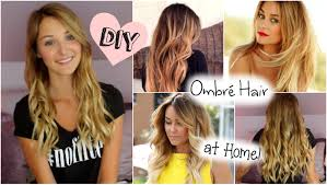 bronde hair home coloring diy ombré hair at home blonde to ombré youtube