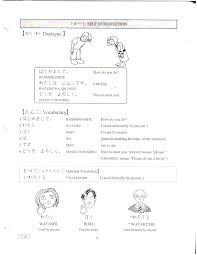 self introduction japanese worksheet learning japanese