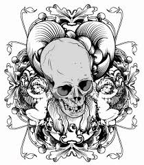skull printed pattern vector free vector 4vector