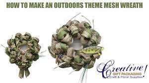 burlap fishing wreath and hunting wreath tutorial youtube