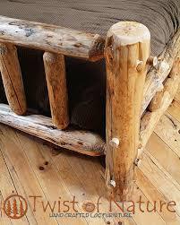 Log Bedroom Furniture Handmade Deluxe Double Log Sided Bed Frame Wood Bed Frame Log
