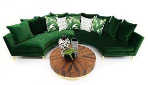 Green Sectional Sofa Modern Hollywood Circle Sectional Furniture Modshop
