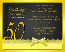 50th birthday invitation wording sles wordings and messages