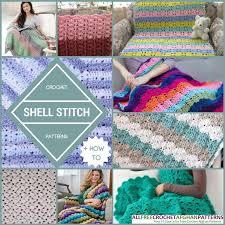pattern of crochet stitches 29 crochet shell stitch patterns allfreecrochetafghanpatterns com