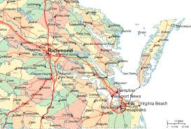 virginia map regional map of eastern virginia
