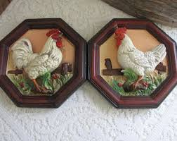 Rooster Home Decor Rooster Plaque Etsy