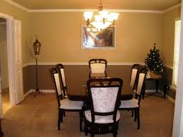 dining room color schemes chair rail