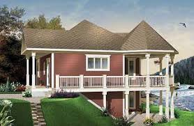 Cottage Open Floor Plan The Trail Seeker 2 Wraparound Porch Lakefront Cottage House Plan