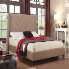 Upholstered Bedroom Furniture by Upholstered King Bed Ebay
