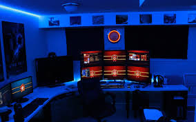 Awesome 2013 Pc Gaming Setup 5760 X 1080 3 Monitors W by Gaming Room Coisas Legais Pinterest Gaming Desk Gaming