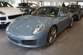 porsche graphite blue interior pre owned 2017 porsche 911 carrera s