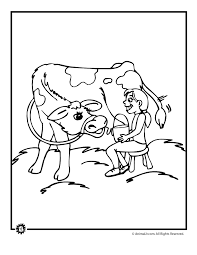 cow coloring pages woo jr kids activities