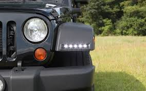 2007 jeep wrangler unlimited accessories led daytime running l system for the 2007 2015 jeep wrangler jk
