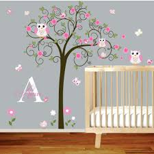 wall decor cute spring wall decor stickers for kids room nursery compact tree murals for nursery tree wall decal nursery vinyl wall stickers flowers owls curl tree wall decals for baby boy nursery 120 tree murals for