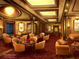 Titanic First Class Dining Room First Class Lounge Of Titanic By Novtilus On Deviantart