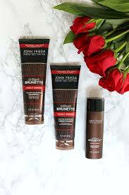 brunette on a budget at home hair color with john frieda hair