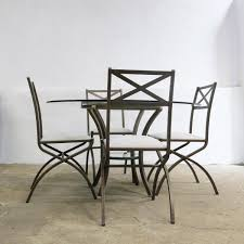 vintage french dining table vintage french dining set with table and 4 chairs by pierre vandel
