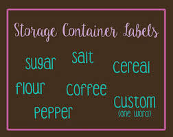 Kitchen Storage Labels - flour label etsy