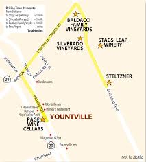 Napa Wine Map Stags Leap Yountville Wine Country This Week Magazine Wineries