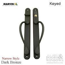 Keyed Patio Door Handle Narrow Traditional Keyed Sliding Patio Door Handle Bronze