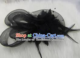 hair clasp top modern hair accessories veil top hat