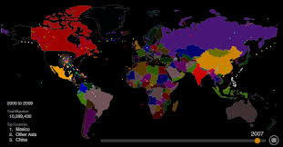 map us here s everyone who s immigrated to the u s since 1820 metrocosm