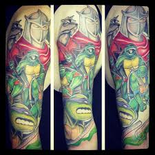 teenage mutant ninja turtles sleeve by johnny le yelp