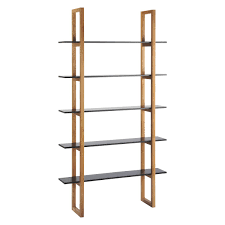 loki black 5 shelf bookcase buy now at habitat uk