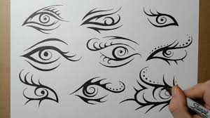 tribal eye designs sketching ideas