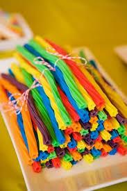 Edible Birthday Favors by Diy St S Day Rainbow Licorice Rainbow Birthday