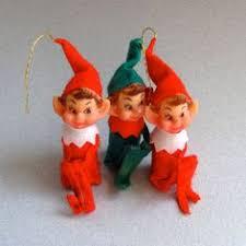 vintage christmas elf pixie fairy christmas tree ornament