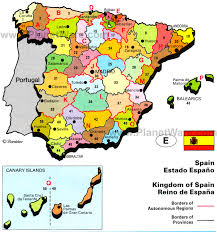 physical map of spain spain earth map