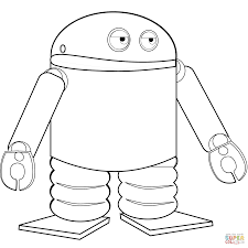 android robot coloring page free printable coloring pages
