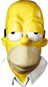oj simpson halloween mask amazon com homer simpson vinyl mask clothing