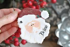 santa salt dough ornament napkin ring cookie