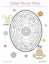 easter egg maze worksheet education com