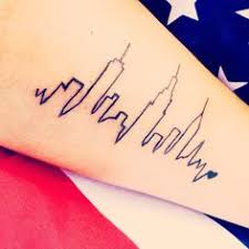 heartbeat city tattoo my chicago skyline tattoo i love it please do not take this image