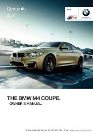 bmw m4 coupe 2016 f82 owner u0027s manual