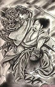 amazing grey ink japanese samurai design viewer com