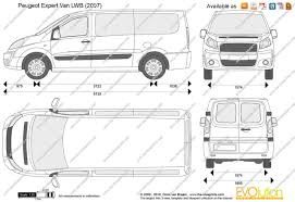 peugeot van 2000 the blueprints com vector drawing peugeot expert van lwb
