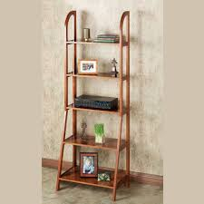 Short Ladder Bookcase by Kimber Red Oak Corner And Ladder Shelves