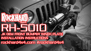 jeep instructions rh 5010 jeep jk winch mounting plate install instructions video