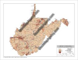 West Virginia Counties Map by Stockmapagency Com Population Density Map Of West Virginia With