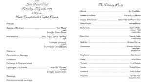 wedding bulletins stunning church wedding program template contemporary styles